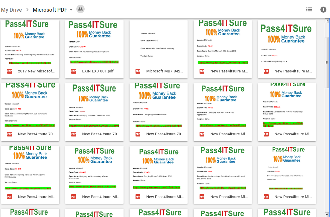pass4itsure google pdf