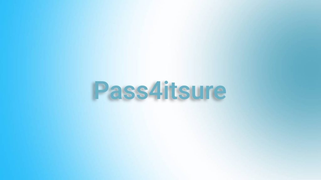 Pass4itsure